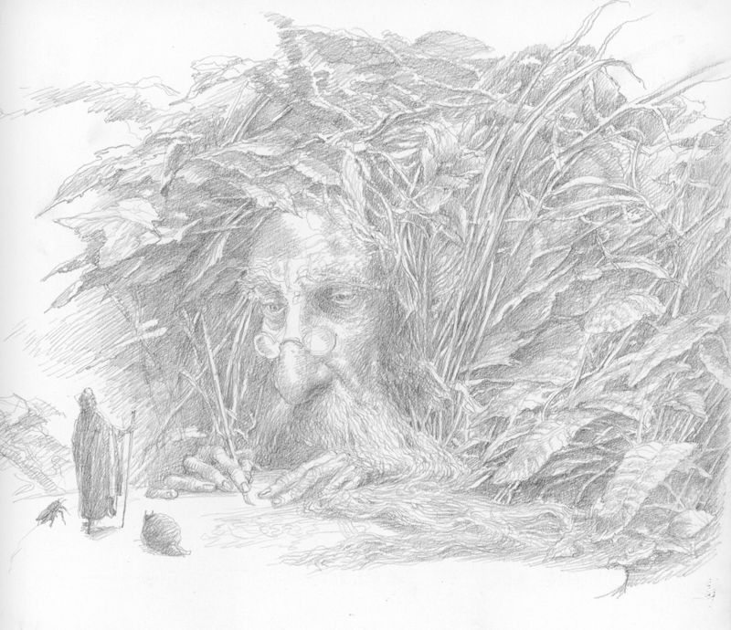 The Scribe by Alan Lee
