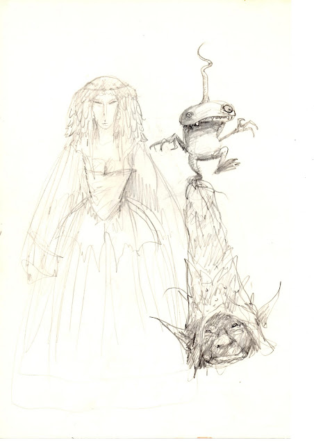 Sketchbook page by Brian Froud